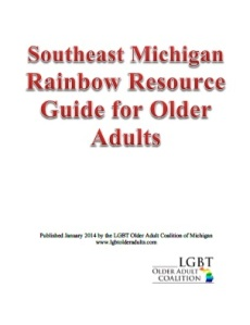SE Michigan Rainbow Resource Guide for Older Adults Cover image
